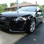 front side view of an audi