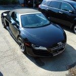 Black Front View of Audi