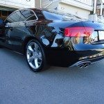 Side view of black Audi