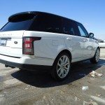 back and side view of range rover