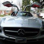 front view with doors open of Mercedes