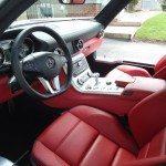 front seats car interior of Mercedes