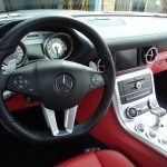 steering wheel and interior of Mercedes