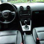 Interior of a black Audi SUV